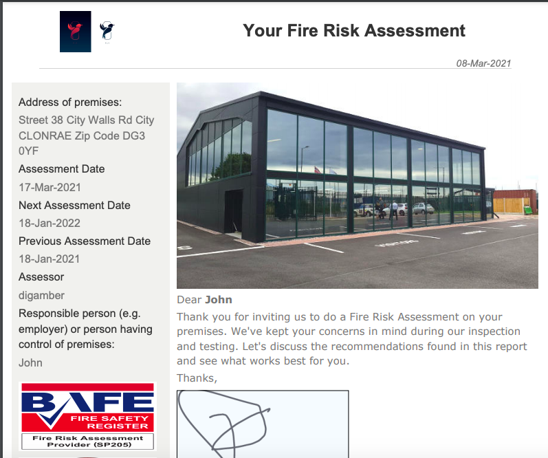 How to upload  logo in the Fire risk assessment mobile App.