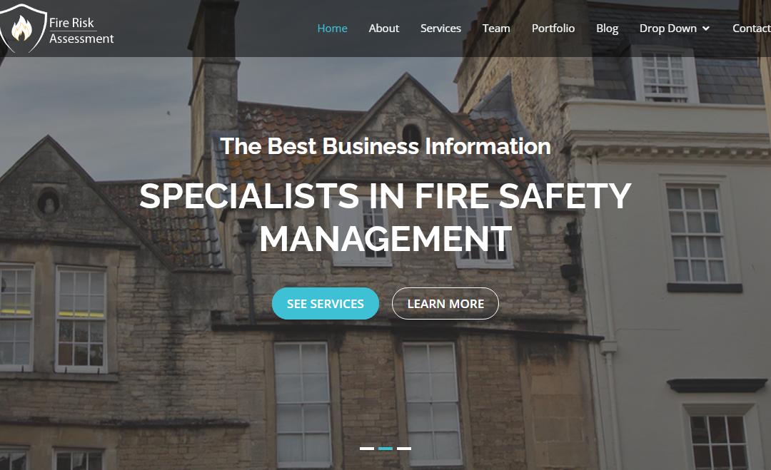 Website for Fire risk assessors.